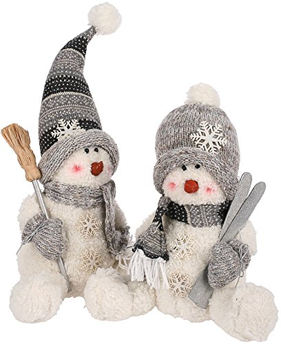 23cm-Christmas-Party-Winter-Sitting-Snowman-Soft-Toy-Figure-Cuddle-Decoration-0