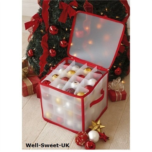 CHRISTMAS-TREE-64-BAUBLE-DECORATIONS-STORAGE-BOX-BRAND-NEW-by-TJM-0