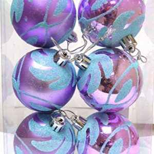 Christmas-Purple-lilac-aqua-blue-6cm-Baubles-6-Pack-0