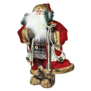 Delux-Father-Christmas-Santa-Claus-Standing-Figure-Xmas-Decoration-Ornament-70cm-H-0