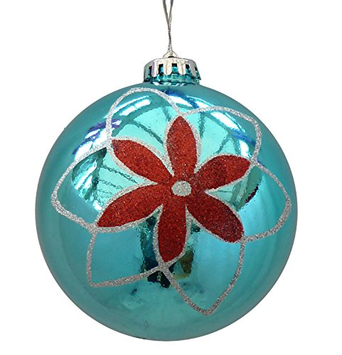 Giant-turquoise-baubles-pack-of-two-12cm-diameter-0