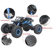 Hugine-Rock-Crawler-RC-Car-118-Off-Road-Vehicle-4x4-Fast-Race-Car-High-Speed-Dune-Buggy-Remote-Control-Monster-Truck-24GhzBlue-0-5