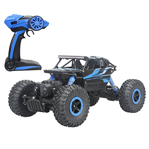 Hugine-Rock-Crawler-RC-Car-118-Off-Road-Vehicle-4x4-Fast-Race-Car-High-Speed-Dune-Buggy-Remote-Control-Monster-Truck-24GhzBlue-0