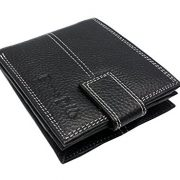 Mens-DESIGNER-BUONO-PELLE-Black-Leather-Wallet-With-Secure-Zip-Coin-Pocket-ID-Window-Gift-Boxed-0-3