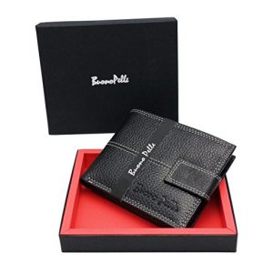 Mens-DESIGNER-BUONO-PELLE-Black-Leather-Wallet-With-Secure-Zip-Coin-Pocket-ID-Window-Gift-Boxed-0
