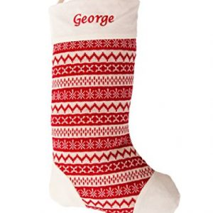 Personalised-FairIsle-50cm-Knit-Christmas-Stocking-Red-Cream-Large-0