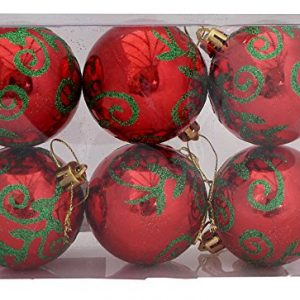Red-baubles-with-green-design-6-Pack-0