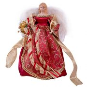 The-Christmas-Workshop-82000-12-Inch-30-cm-Traditional-Top-Angel-Christmas-Tree-RedGold-0