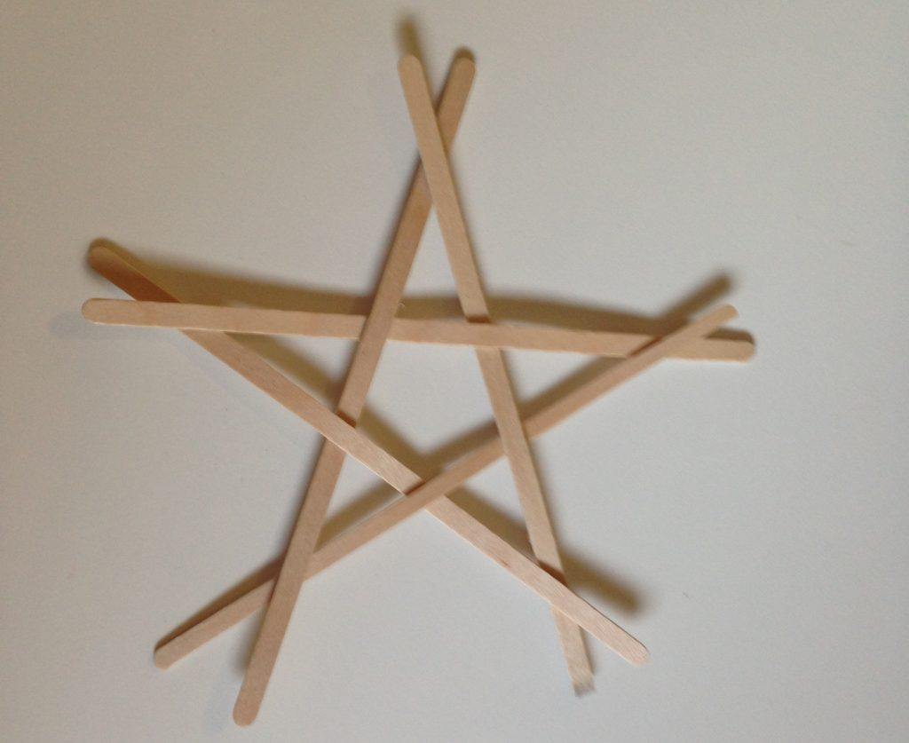 Coffee stirrer stars