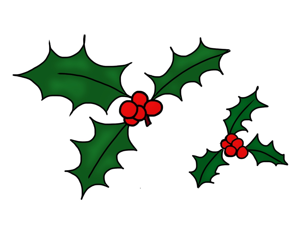 Free holly leaves clip art
